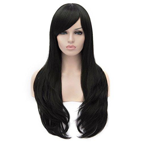 Dayiss, Perruque femme longue lisse couleur noir naturel occasion quotidien