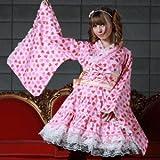 苺いっぱいゴスロリ浴衣 L043 ゴスロリ ロリータ パンク コスプレ コスチューム メイド サックス m