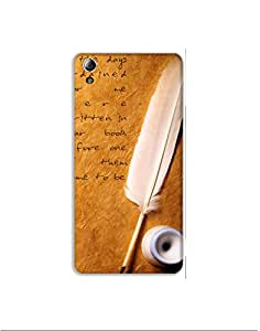 LENOVO A6010 Plus ht003 (163) Mobile Case from Mott2 - Nice Quote - Feather Pen (Limited Time Offers,Please Check the Details Below)
