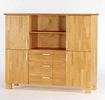 Highboard Kommode Anrichte 437217 Kiefer massiv buche