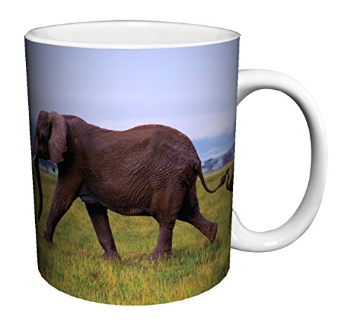 Elephants Linking Trunks 11oz Mug