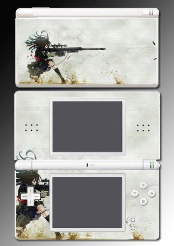Anime Girl Sniper Gun Game Decal Cover Vinyl Skin Protector #1 for Nintendo DS Lite