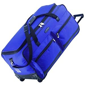 Jeep XXL Extra Large Wheeled Holdall - 5 Years Warranty! (Royal Blue 31 Inch)