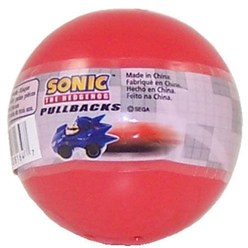 Tomy Gacha Sonic the Hedgehog Pullbacks Mini Figure Blind Pack Red Bubble Pack - 1