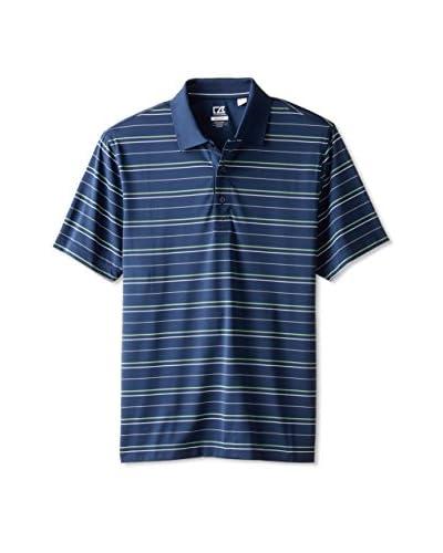 Cutter & Buck Men's Drytec Pacific Stripe Short Sleeve Polo