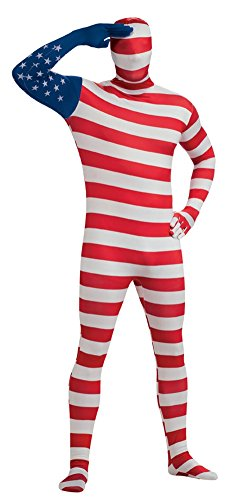 USA Flag 2nd Skin Suit Costume
