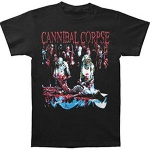 Ill Rock Merch Cannibal Corpse - ButcheRosso At Birth T-Shirt (X-Large) - Nero