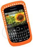 ORANGE DIAMOND SILICONE CASE FOR BLACKBERRY CURVE 8520