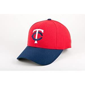 Minnesota Twins 1973-86 Cooperstown Fitted Baseball Cap (Red Navy) by American Needle