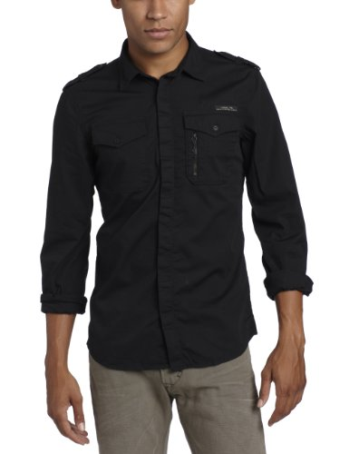 Diesel Siranella Casual Shirt In Black - Size Medium