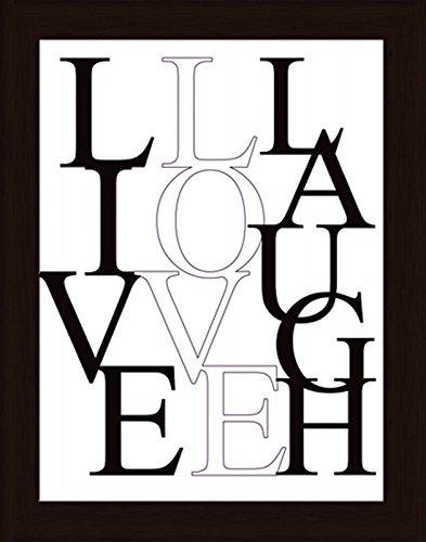 Bild mit Rahmen Kunstdruck Bilder Artland Schrift Jule: Leben, Lieben, Lachen in verschiedenen Größen Riesenauswahl in unsrem Händlershop!