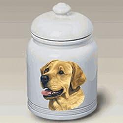 """Labrador Retriever (Yellow): Ceramic Treat Jar 10"""" High #45029"""