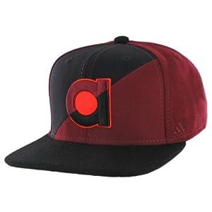 adidas Men's Split Strapback Cap, Collegiate Burgundy/Black, One Size