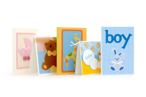 New Baby Cards Pack Of Five Handmade Cards - Fair Trade front-56293