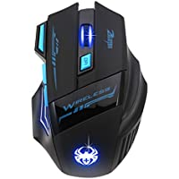 Ziopp 2400DPI Optical Wireless Adjustable Gaming Mouse For Laptop PC