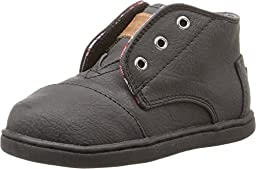 TOMS Kids Unisex Paseo Mid (Infant/Toddler/Little Kid) Black Synthetic Leather Sneaker 2 Infant M