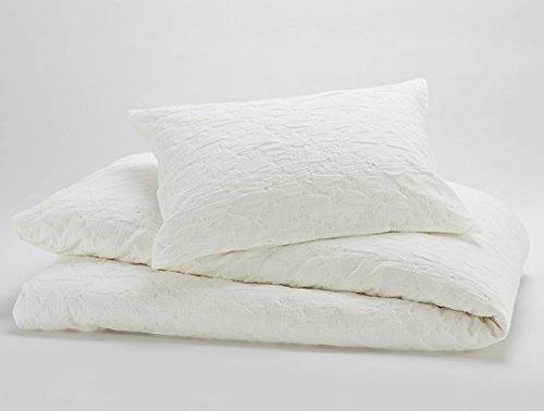Coyuchi Cotton Mache Duvet Cover (Full/Queen, White)