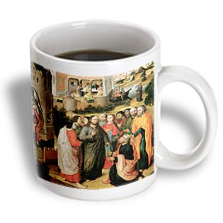 3Drose Christ Handing Keys To St Peter By Master Of The Legend Of The Holy Prior, Ceramic Mug, 11-Oz