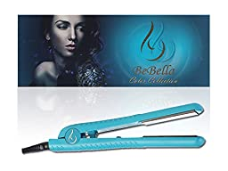 Bebella Color Collection Professional Salon Pure Onyx Ceramic Plates Hair Straightener Flat Iron, 1.25\