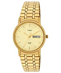Timex Classics Analog Gold Dial Mens Watch - A504