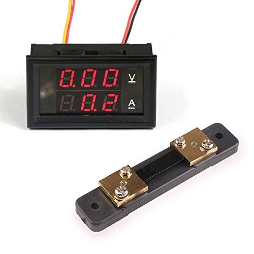 Small Digital Voltmeters Dc : Drok small digital voltage current tester voltmeter
