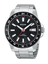 Pulsar Everyday Value Three-Hand Date Stainless Steel Men's watch #PH9055X