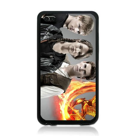 THE Hunger Games TPU Rubber Plus Hard Case Cover Skin for Ipod Touch 4 4th Generation - Free Plastic Retail Packaging Box