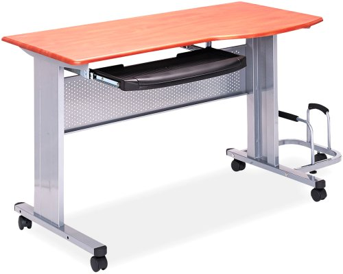 Tiffany Industries 8100Tdmec Eastwinds Mobile Work Table, 47-1/4W X 24D X 28-1/2H, Medium Cherry Laminate Top