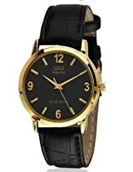 Q&Q Black Dial Men's Watch - S026-105Y