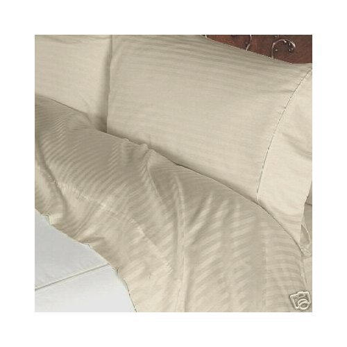 Super Soft 300TC Stripe California King Size 5PC Split Sheet Set in Beige color by Luxurious Sheets sale off 2015