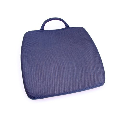 66Fit Curve Back Cushion Memory Foam Elite - Blue, 33 X 36 X 7 cm