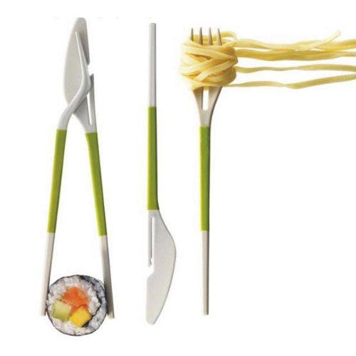 Multipurpose Knife Fork Chopsticks Combined Tableware