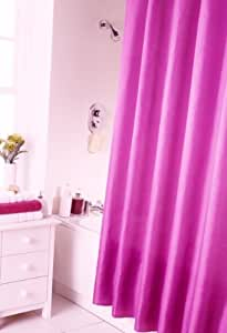 Spectrum 180 x 180 cm Shower Curtain and Rings Set, Fuschia