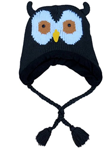 womens-brown-knit-owl-peruvian-style-trapper-hat-fleece-lined
