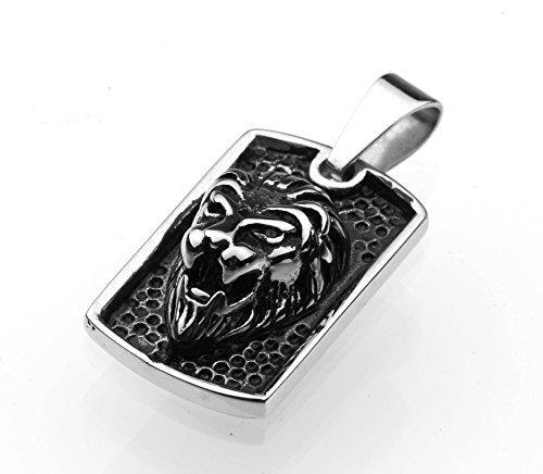 Tempi di consegna 6-12 giorni - Ciondolo in acciaio inox Ciondolo in acciaio inox amuleto leone tigre cacciatore gatto Wildcat Men 4