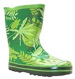 Cherokee Boy's Yb Leaf Green Leaf Print Rubber Wellington Boots