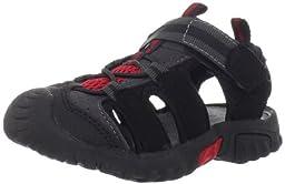 Jumping Jacks Beachcomber Sport Sandal (Toddler/Little Kid/Big Kid),Black/Gray,29 EU (11-11.5 M US Little Kid)