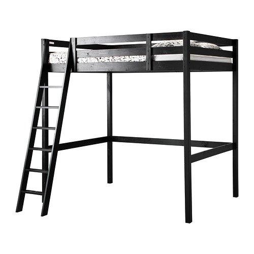 IKEA(イケア) STORA ロフトベッドフレーム ブラック