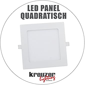 led panel quadratisch einbauleuchte deckenleuchte lampe. Black Bedroom Furniture Sets. Home Design Ideas