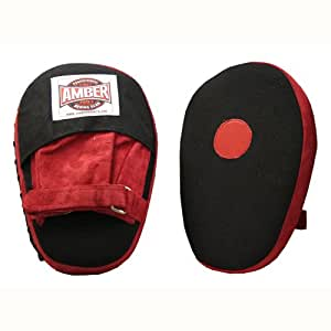 Canvas Focus Mitts in Red