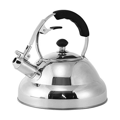 Tea Kettle - Stainless Steel Stovetop Whistling Tea Kettle, 3-Liter by Juvale
