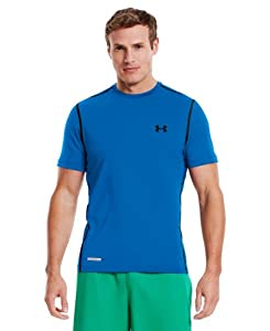 Under Armour Men's HeatGear® Sonic Fitted Short Sleeve Medium ELECTRIC BLUE