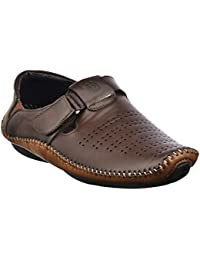 Brandvilla Brown Colour Casual Stylish Loafer Sandal Mocassion Slip On Shoes For Men By Brandvilla