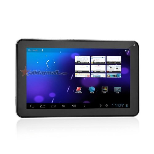 9 Inch Capacitive Touch Screen Android 4.0 Tablet PC with Allwinner A13 1.0GHz 512MB/8GB WiFi Front-camera (White)
