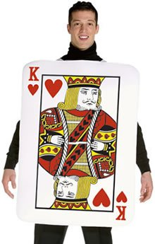 King of Hearts Deluxe Playing Card Adult Costume Size Large/X-Large
