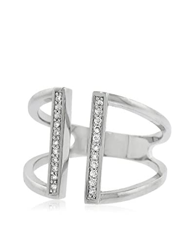 Bronzo Lusso Crystal Pavé Parallel Bar Ring
