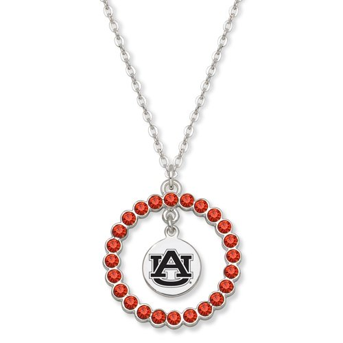 Auburn University Spirit Crystal Wreath Logo Necklace at Amazon.com