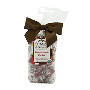 YumEarth Organic Artisanal Candy Drops, Pomegranate Pucker, 6 Ounce Pouches (Pack of 6)