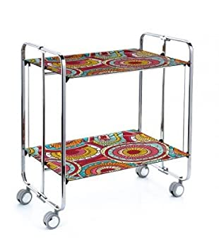 Chassis Folding Trolley and Shelves Chrome-Coloured