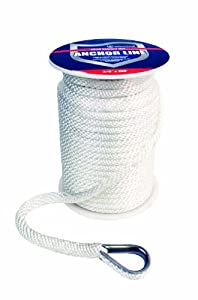 Buy Attwood Solid Braid MFP Anchor Line with Thimble by attwood